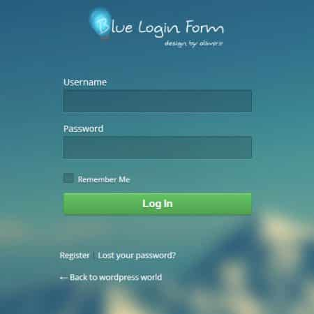 blue login style