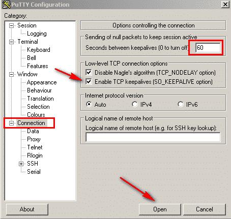 غیرفعال کردن Timeout در SSH