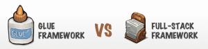 خصوصیات و تفاوت های Glue framework و Full stack framework